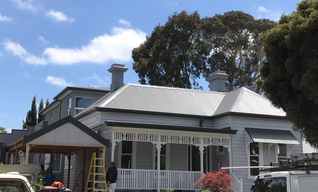 Domestic new metal roof installation