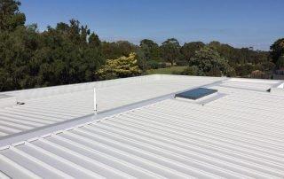 flat metal roofing